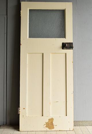 イギリス アンティーク ガラス入り木製ドア 扉 建具 7197