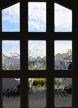イギリス アンティーク ガラス入り木製ドア 扉 建具 7200
