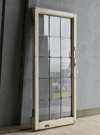 イギリス アンティーク 格子窓 無色透明 7202