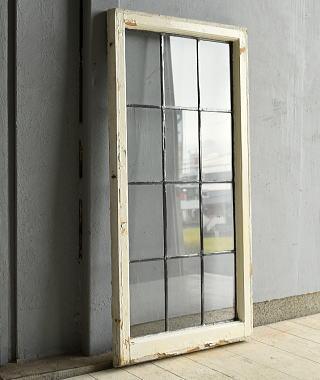イギリス アンティーク 格子窓 窓 無色透明 7207