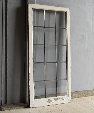 イギリス アンティーク 格子窓 窓 無色透明 7211