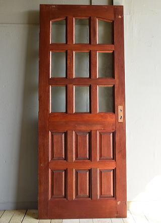 イギリス アンティーク ガラス入り木製ドア 扉 建具 7