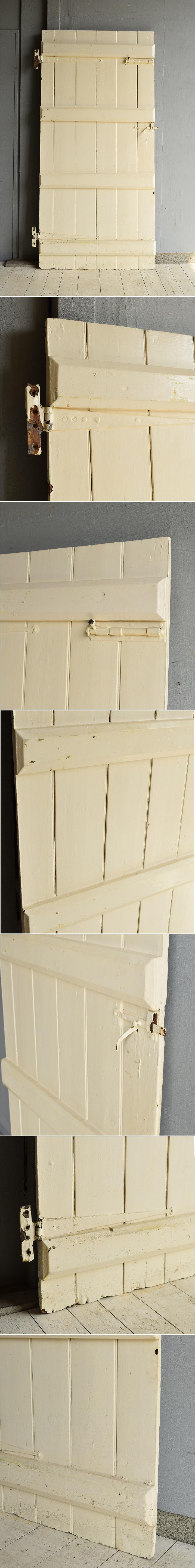 イギリス アンティーク 木製ドア 扉 ディスプレイ 建具 7215