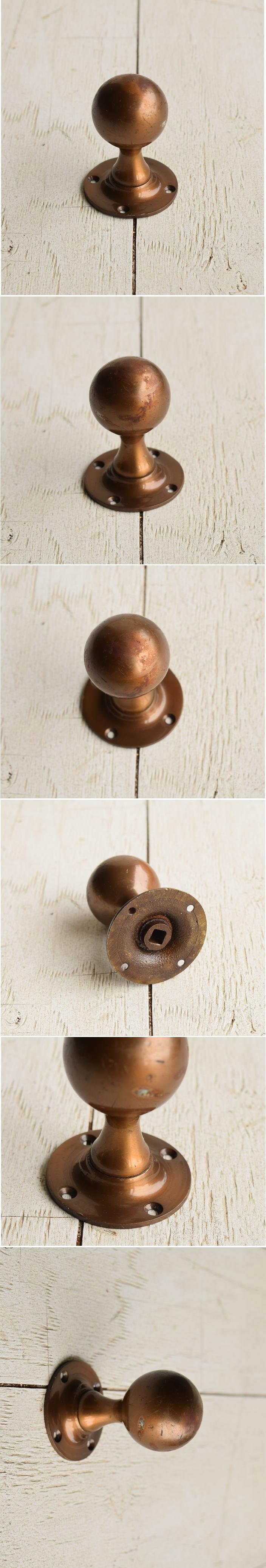イギリス アンティーク 真鍮ドアノブ 建具金物 握り玉 7220