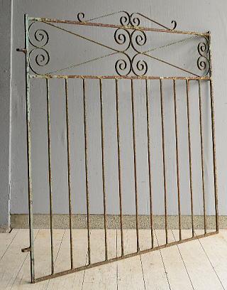 イギリス アンティーク アイアンフェンス ゲート柵 ガーデニング 7226