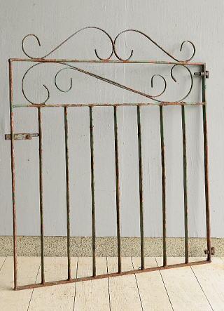 イギリス アンティーク アイアンフェンス ゲート柵 ガーデニング 7228