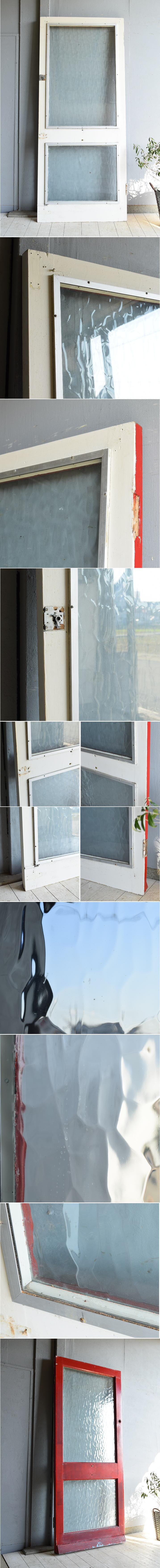 イギリス アンティーク ガラス入り木製ドア 扉 建具 7233
