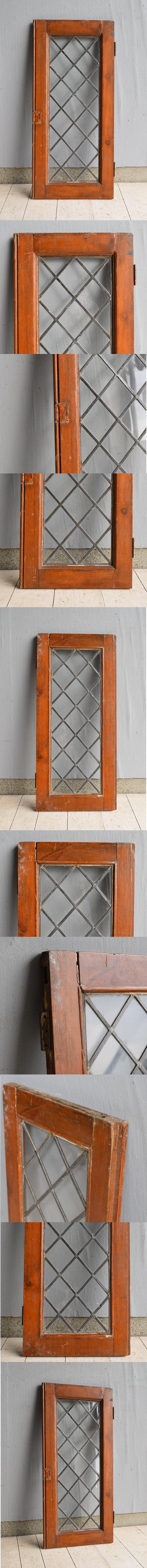 イギリス アンティーク 格子窓 7555