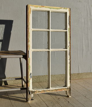 イギリス アンティーク 木製窓 ディスプレイ 建具 7566