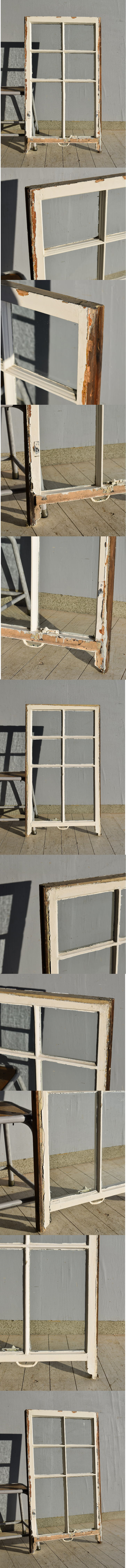 イギリス アンティーク 木製窓 ディスプレイ 建具 7569