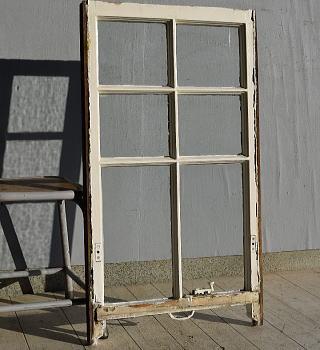 イギリス アンティーク 木製窓 ディスプレイ 建具 7571