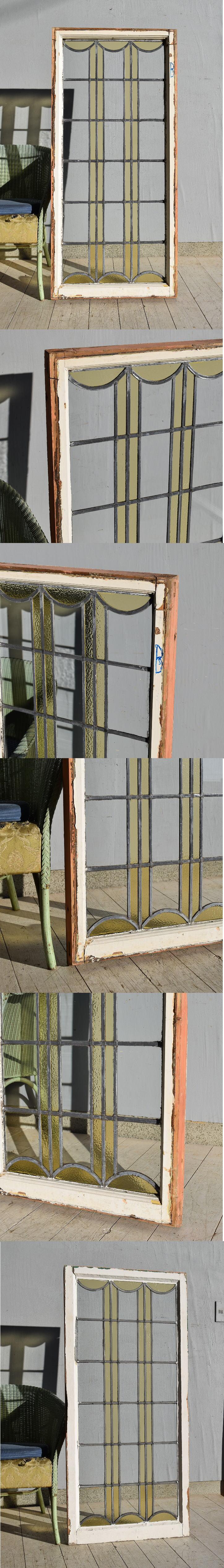 イギリス アンティーク ステンドグラス 窓 7581
