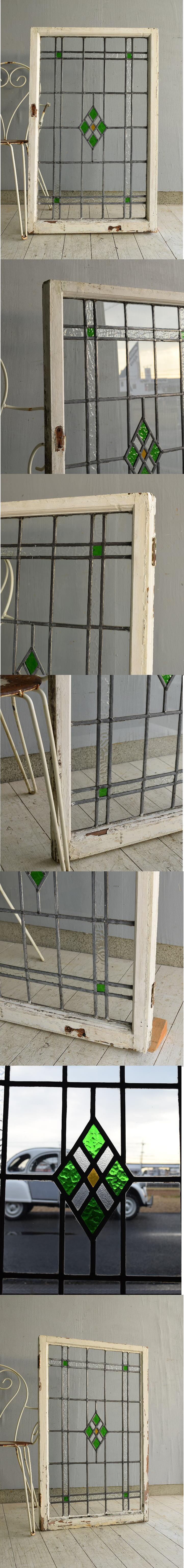 イギリス アンティーク ステンドグラス 窓 7597