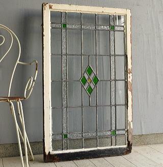 イギリス アンティーク ステンドグラス 窓 7599