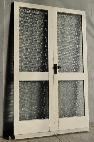 イギリス アンティーク ガラス ドア 2枚セット 扉 建具 7641