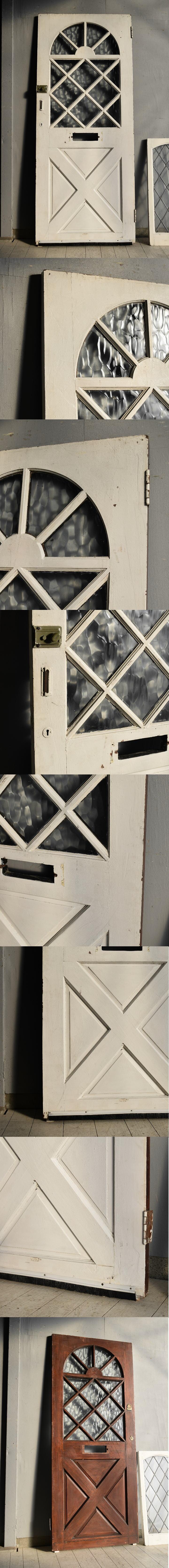 イギリス アンティーク ガラス ドア 扉 ディスプレイ 建具 7645