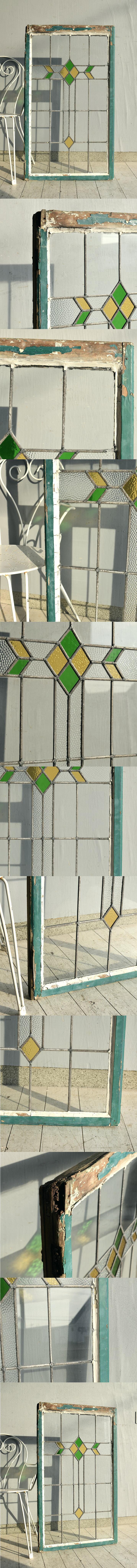 イギリス アンティーク ステンドグラス 窓 7648
