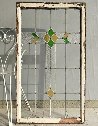 イギリス アンティーク ステンドグラス 窓 7649