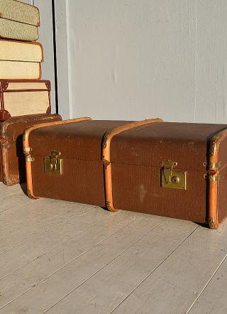 イギリス アンティーク スーツケース トランク ディスプレイ 旅行鞄 7653
