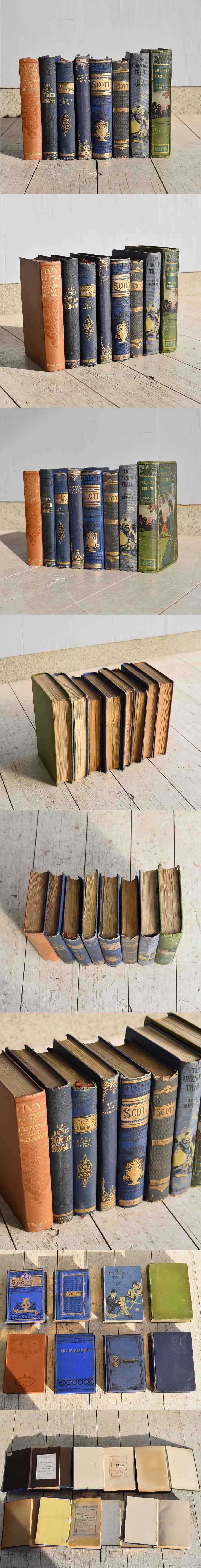 イギリス アンティーク ブック 本 10冊セット ディスプレイ 7662