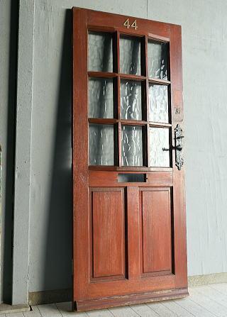 イギリス アンティーク ガラス ドア 扉 ディスプレイ 建具 7683