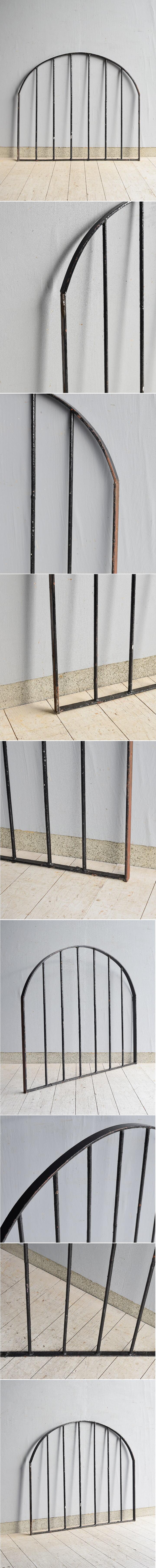 イギリス アンティーク アイアンフェンス ゲート柵 ガーデニング 7688