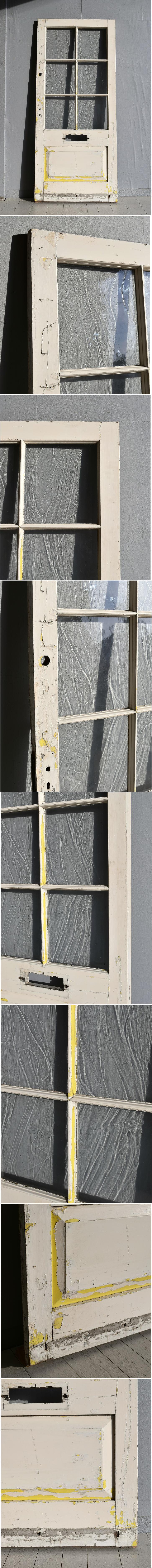 イギリス アンティーク ガラス ドア 扉 ディスプレイ 建具 7694