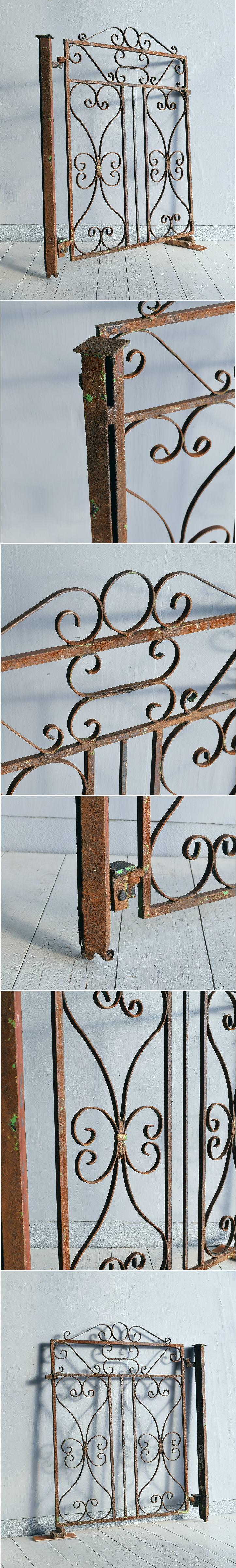 イギリス アンティーク アイアンフェンス ゲート柵 ガーデニング 7719