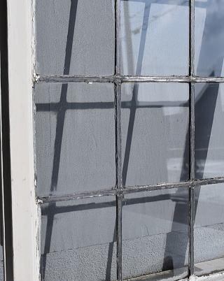 イギリス アンティーク 窓 無色透明 7756