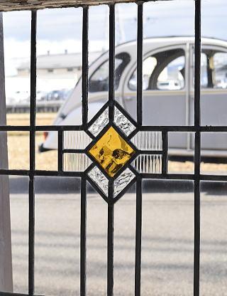 イギリス アンティーク ステンドグラス 窓 7762