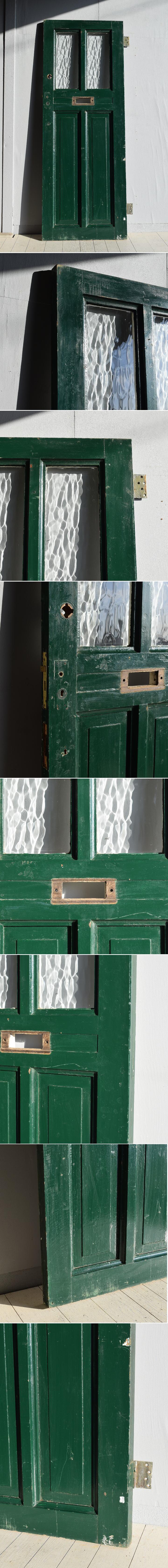 イギリス アンティーク ガラス ドア 扉 ディスプレイ 建具 7766