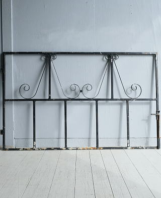 イギリス アンティーク アイアンフェンス ゲート柵 ガーデニング 7781