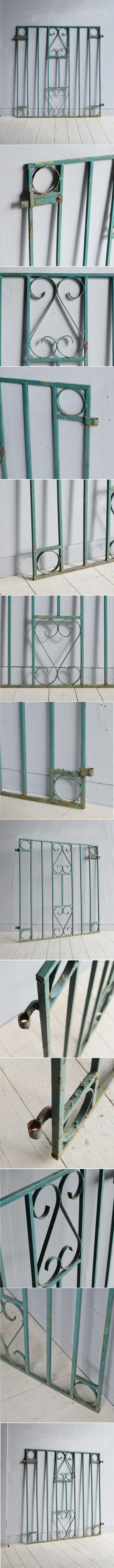 イギリス アンティーク アイアンフェンス ゲート柵 ガーデニング 7783