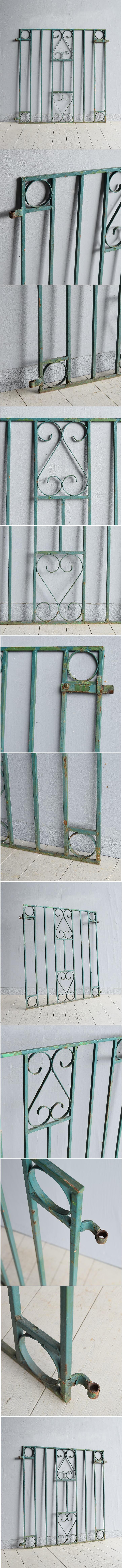 イギリス アンティーク アイアンフェンス ゲート柵 ガーデニング 7784