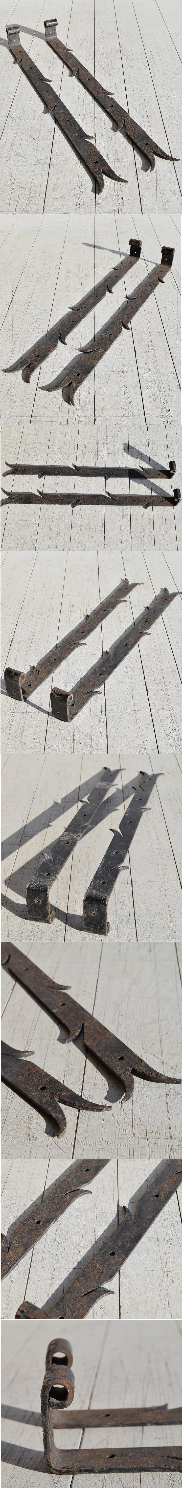 イギリス アンティーク 鉄製ヒンジ×2 建具金物 7785