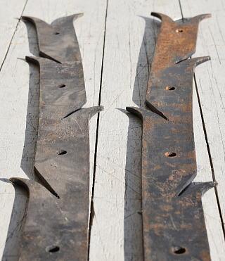 イギリス アンティーク 鉄製ヒンジ×2 建具金物 7786