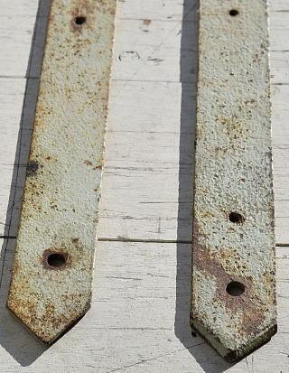イギリス アンティーク 鉄製ヒンジ×2 建具金物 7788