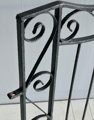 イギリス アンティーク アイアンフェンス ゲート柵 ガーデニング 7794