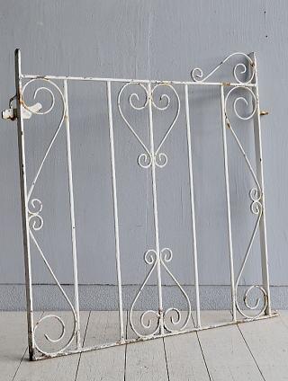 イギリス アンティーク アイアンフェンス ゲート柵 ガーデニング 7796