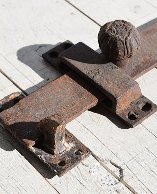 イギリスアンティーク 鉄製金物 鋳物 打掛 7804