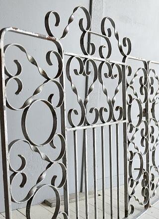イギリス アンティーク アイアンフェンス ゲート柵 ガーデニング 7848