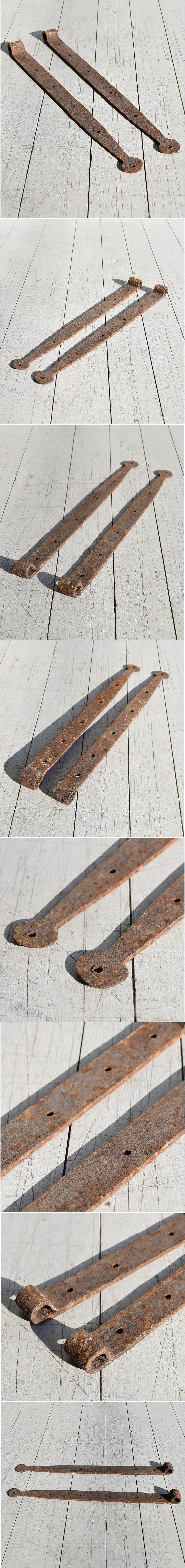 イギリス アンティーク 鉄製ヒンジ 建具金物 7850