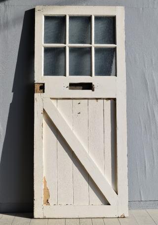 イギリス アンティーク ガラス ドア 扉 ディスプレイ 建具 7871