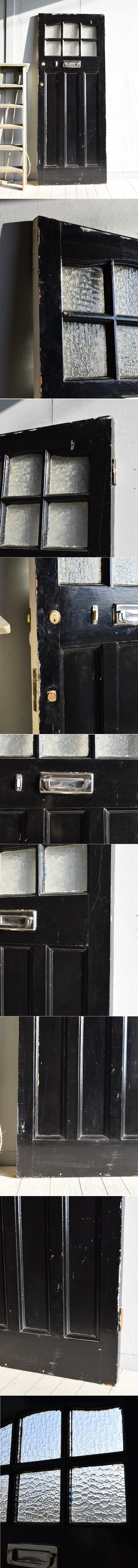 イギリス アンティーク ガラス ドア 扉 ディスプレイ 建具 7873