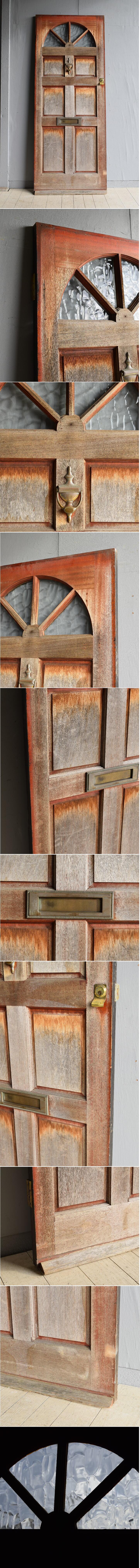イギリス アンティーク ガラス ドア 扉 ディスプレイ 建具 7881