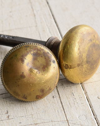 イギリス アンティーク 真鍮 ドアノブ 建具金物 握り玉 7888