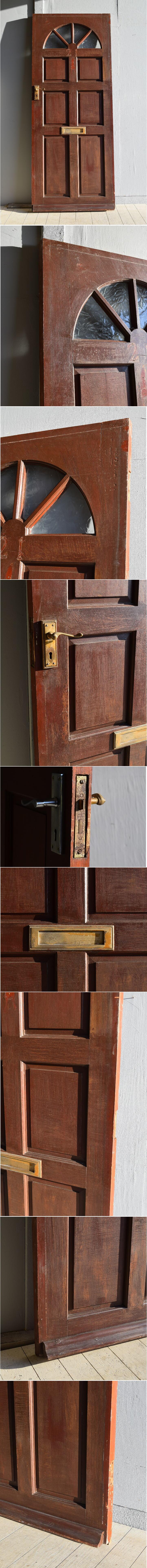 イギリス アンティーク ガラス ドア 扉 ディスプレイ 建具 7897