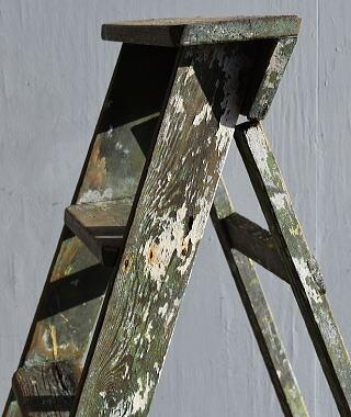 イギリス アンティーク ステップラダー 脚立 ディスプレイ 7899