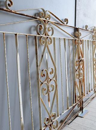 イギリス アンティーク アイアンフェンス ゲート柵 7900