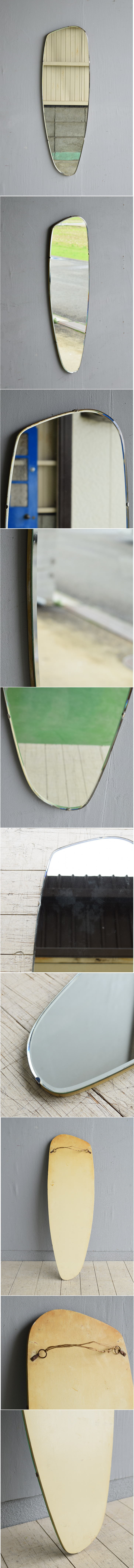 イギリス アンティーク  壁掛け ミラー 鏡 7904